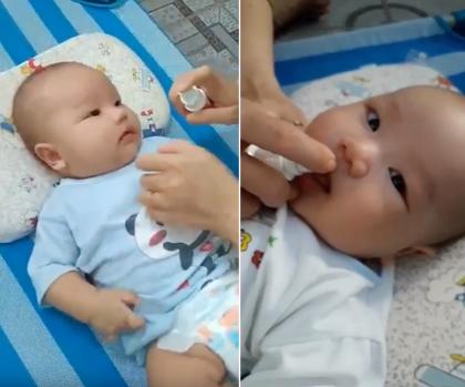 bé 3 tháng bổ sung vitamin D3 Dimao